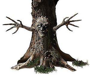 Spooky Tree with Face and Arms - SpiritHalloween.com.